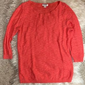 Scoop-Neck Knit Sweater